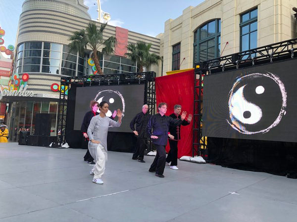 tai chi performance at the Line in Las Vegas Chinese New Year