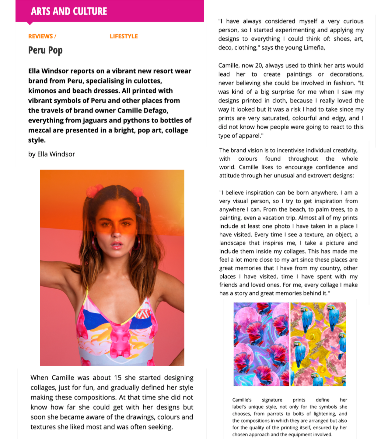 Article written by Ella Windsor for Latino Life Magazine