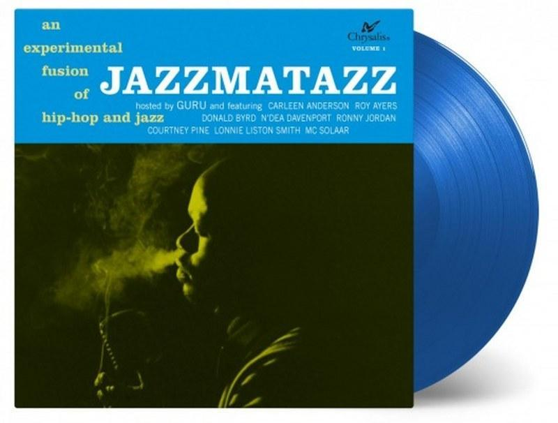 Guru - Jazzmatazz [LP] (LIMITED BLUE 180 Gram Audiophile Vinyl, 25th Anniversary Edition, numbered to 5000, import) - Urban Vinyl | Records, Headphones, and more.