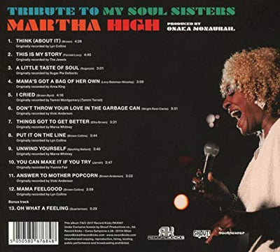 Martha High - Tribute To My Soul Sisters (CD) - Urban Vinyl | Records, Headphones, and more.