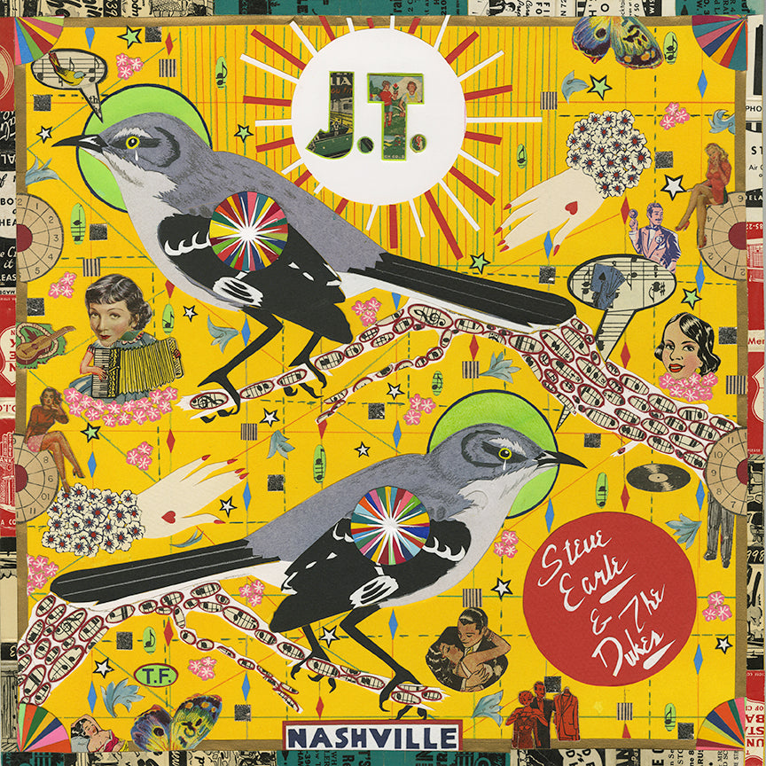 Steve Earle And The Dukes - J.T. [LP] (Chicago Cubs Red 150 Gram Vinyl, indie-retail exclusive)