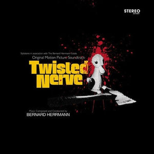 Bernard Herrmann - Twisted Nerve (Super Deluxe Soundtrack) [LP+CD+7''] (Transparent Blood-Splattered Vinyl, 30x40'' British Quad film poster, black certificate signed by Mrs. Norma Herrmann, download)