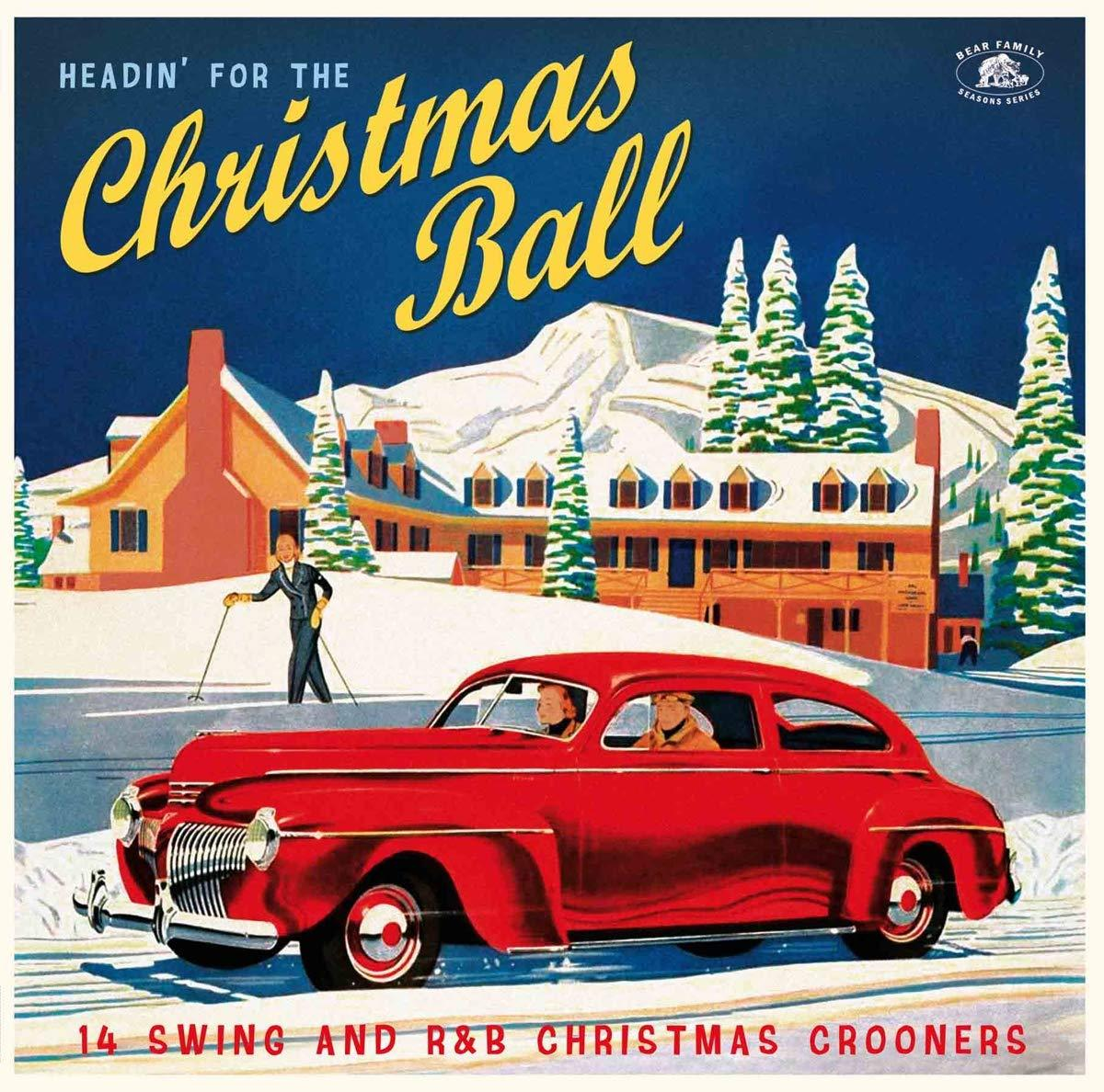 Various Artists - Headin' For The Christmas Ball: 14 Swing And R&B Christmas Crooners [LP] (Red 140 Gram Vinyl, X-mas card)