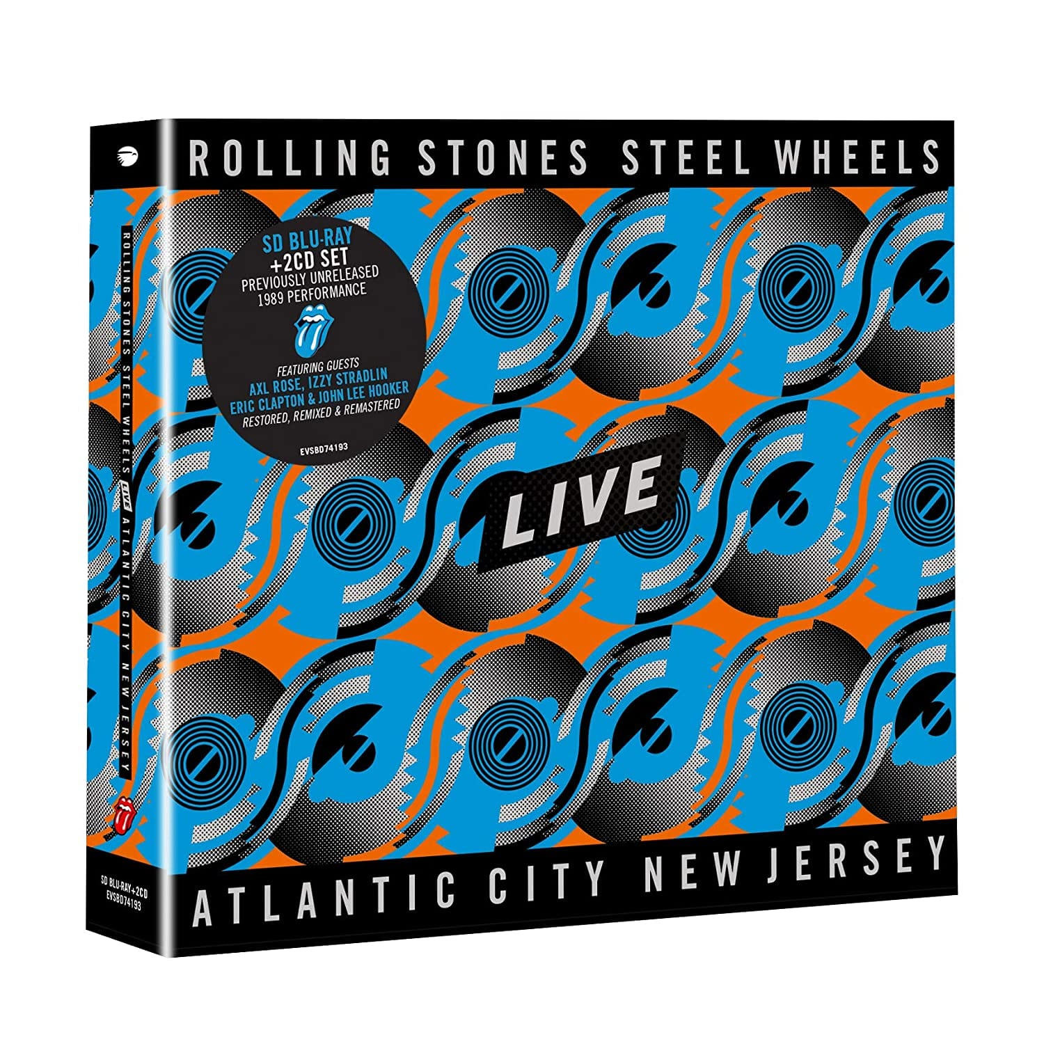 Rolling Stones, The - Steel Wheels Live: Live From Atlantic City, NJ, 1989 [2CD+BluRay] - Urban Vinyl | Records, Headphones, and more.