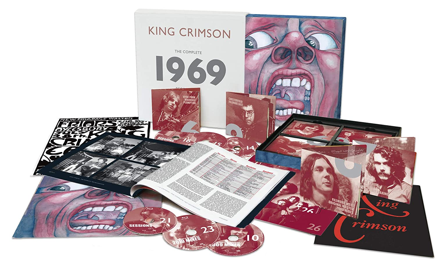 King Crimson - The Complete 1969 Recordings [20CD+4BluRay+1DVD+1DVD-A Box Set] (includes 40-page 12'' booklet, limited, import)