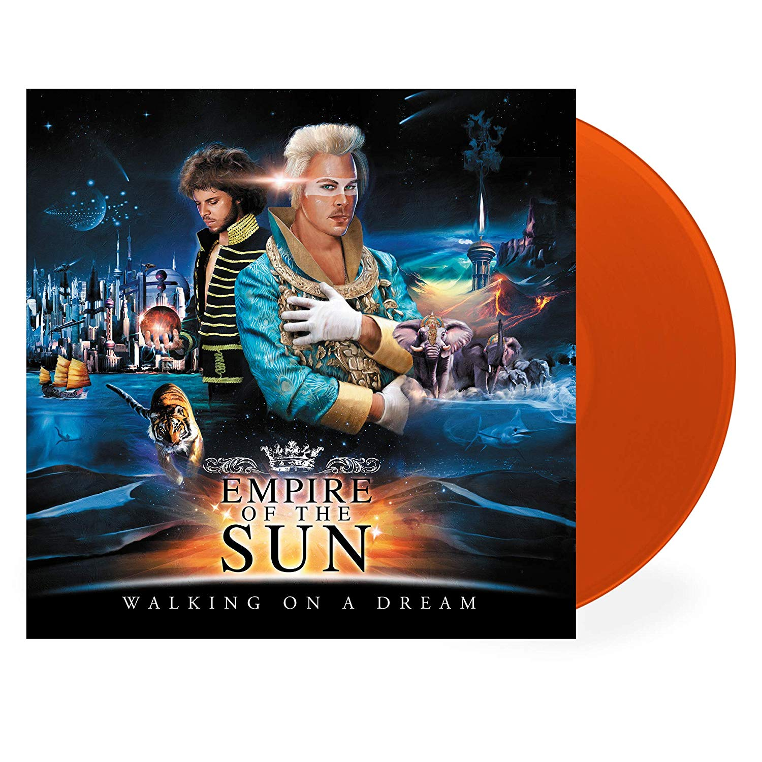 Empire Of The Sun - Walking On A Dream [LP] (10th Anniversary, 180 Gram, Transparent Blood Orange Colored Vinyl) - Urban Vinyl | Records, Headphones, and more.