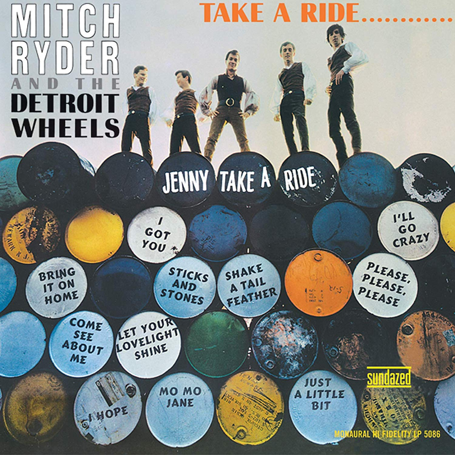 Mitch Ryder & The Detroit Wheels - Take A Ride... [LP] (Gold Vinyl)