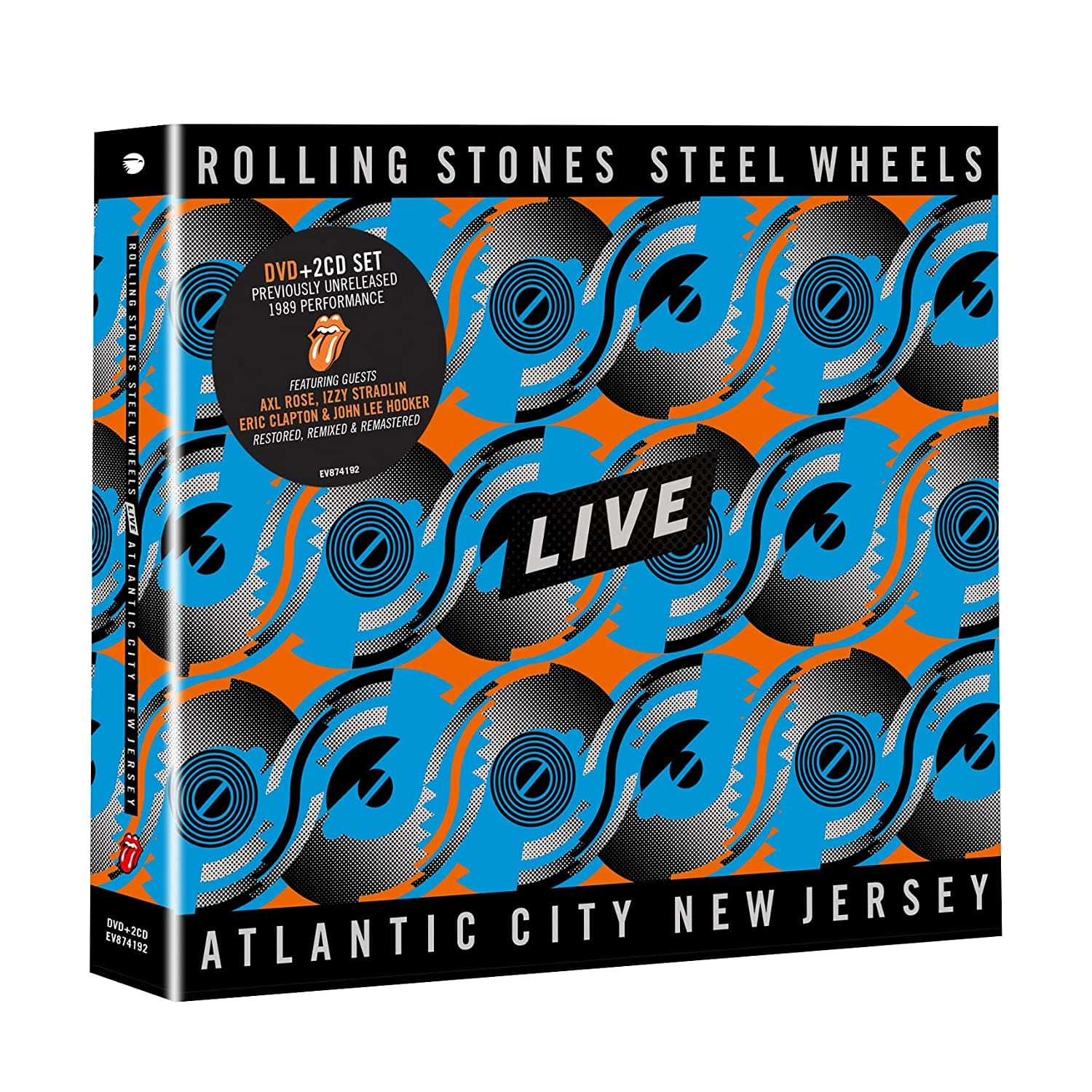 Rolling Stones, The - Steel Wheels Live: Live From Atlantic City, NJ, 1989 [2CD+DVD] - Urban Vinyl | Records, Headphones, and more.