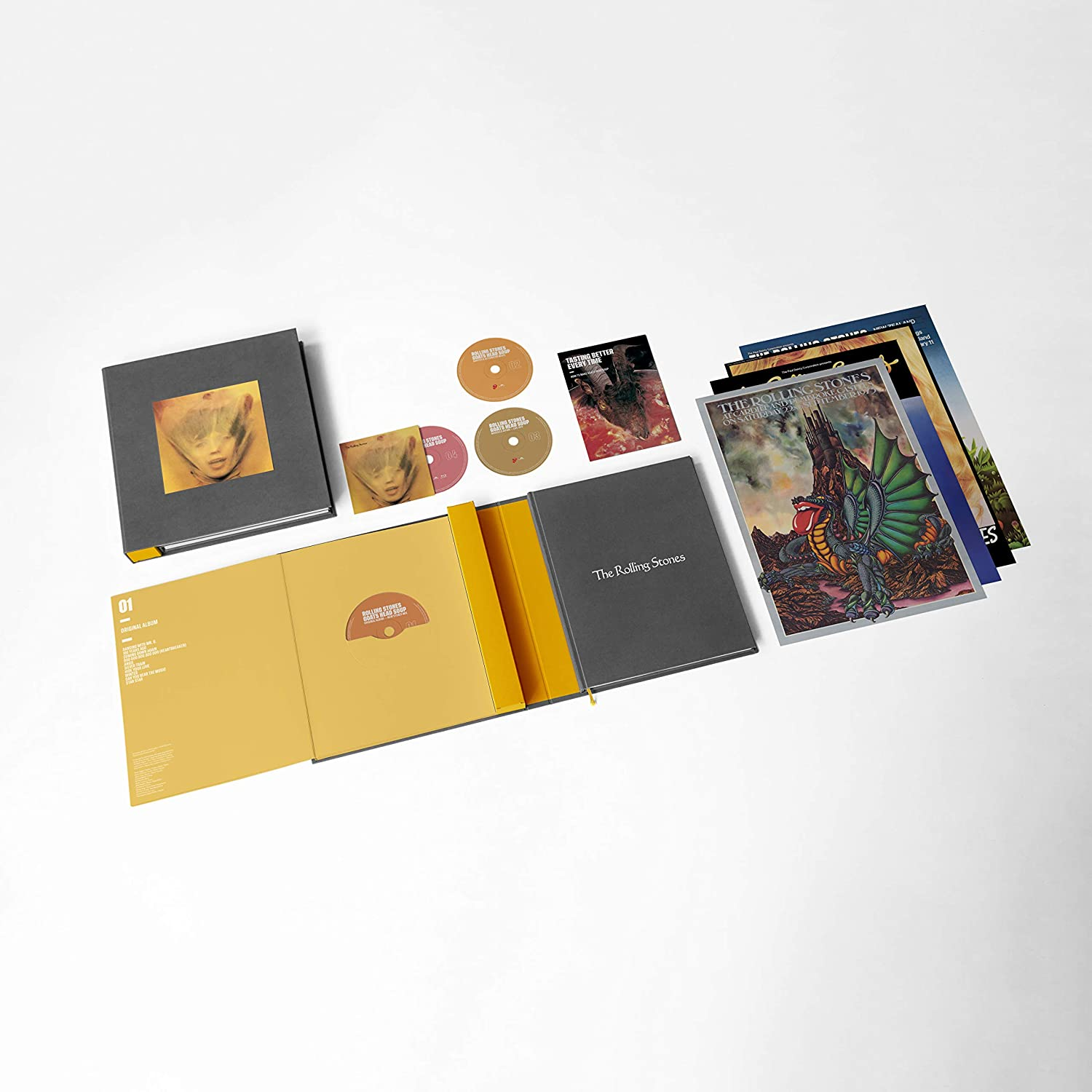 Rolling Stones, The - Goats Head Soup [3CD+BluRay] (Super Deluxe Box Set, 120 pg book, 4 x 1973 reproduction tour posters, rarities & alternative mixes feat. 3 previously unreleased tracks) - Urban Vinyl | Records, Headphones, and more.