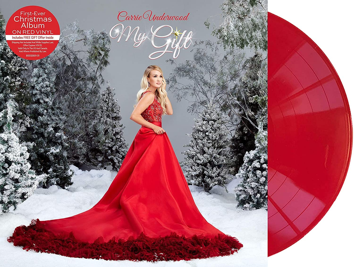 Carrie Underwood - My Gift [LP] (Red Vinyl, redeemable gift offer inside)