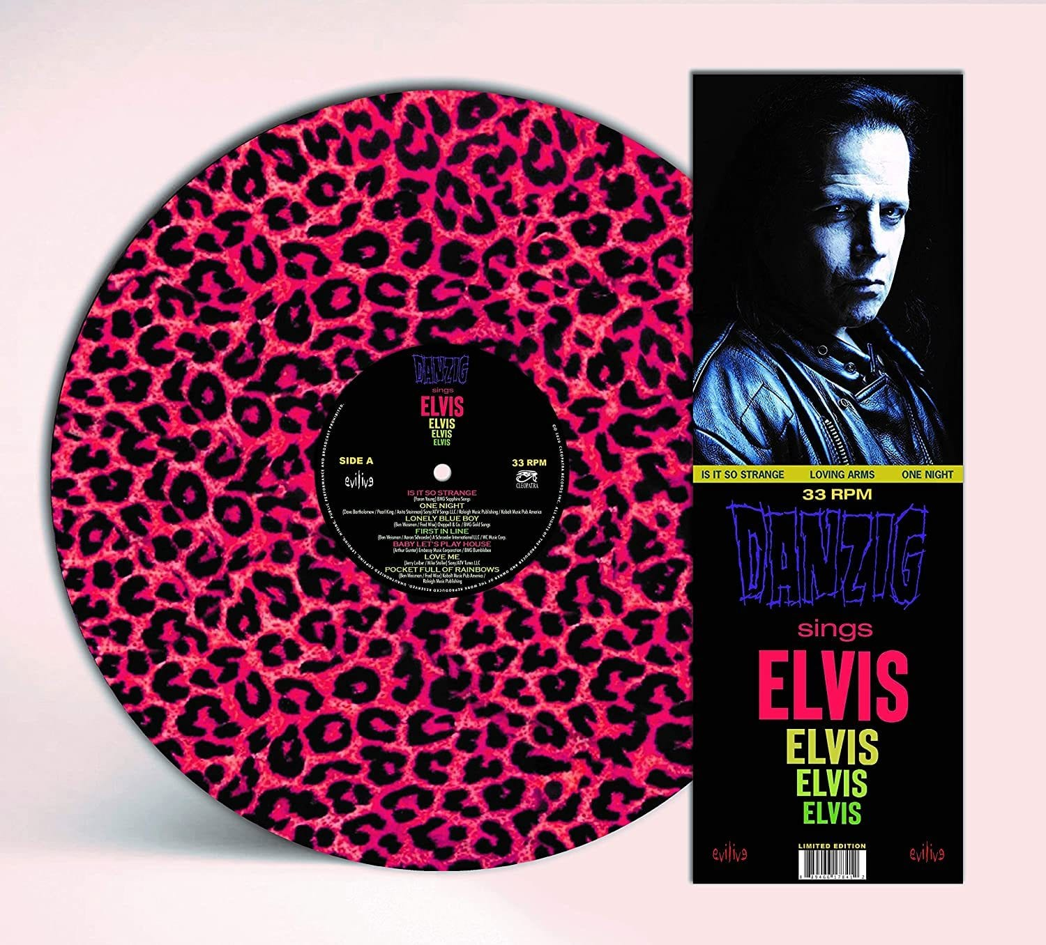 Danzig - Sings Elvis [LP] (Leopard Skin Print Picture Disc, limited) - Urban Vinyl | Records, Headphones, and more.