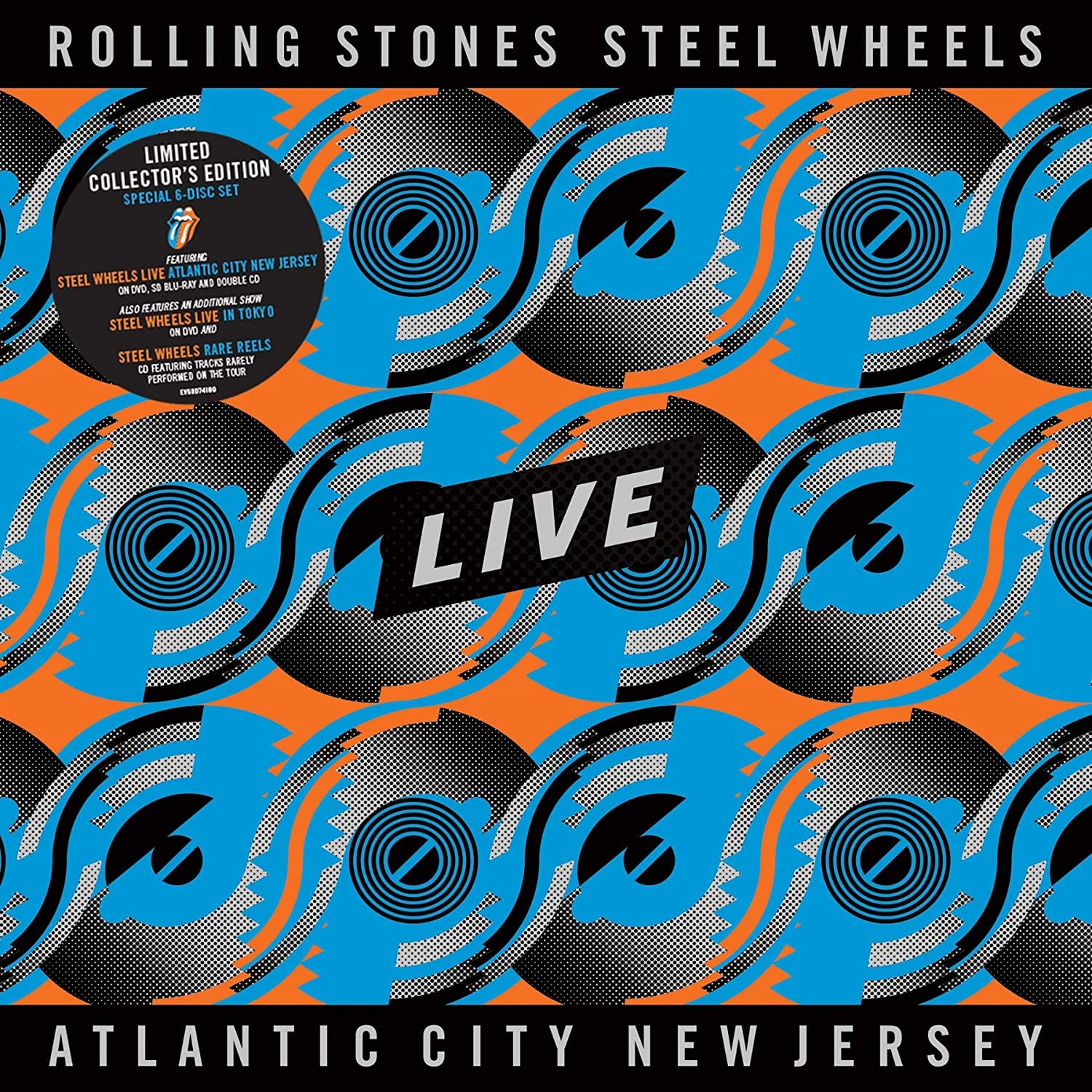 Rolling Stones, The - Steel Wheels Live: Live From Atlantic City, NJ, 1989 [3CD+2DVD+BluRay] (limited) - Urban Vinyl | Records, Headphones, and more.