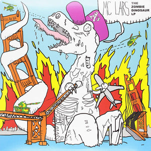 MC Lars - The Zombie Dinosaur [LP] (Clear Blue Vinyl, limited to 1000)