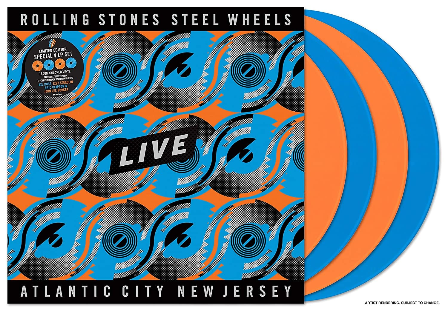 Rolling Stones, The - Steel Wheels Live [4LP] (Live From Atlantic City, NJ, 1989 / North American Version, Tangerine/Sky Blue Colored 180 Gram Vinyl, limited) - Urban Vinyl | Records, Headphones, and more.