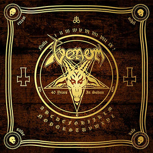 Venom - In Nomine Satanas [8LP+7''] (Colored Vinyl, planchette-shaped Picture Disc 7'', 12x12 book, poster, patch, reproduction tour program)