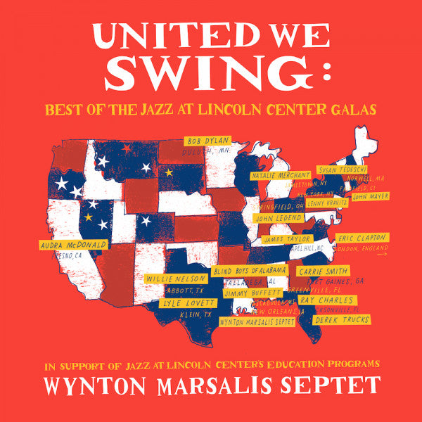 Wynton Marsalis Septet - United We Swing [2LP] (feat. Bob Dylan, Eric Clapton, Willie Nelson) - Urban Vinyl | Records, Headphones, and more.