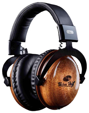 """Classics"" Real Wood Headphones + Free Earbuds - Urban Vinyl Records"