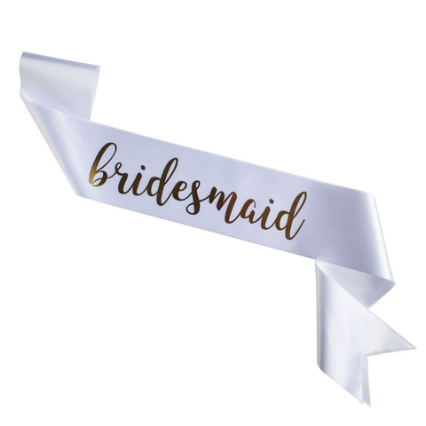 Lovely High Quality White Bridesmaid Sash