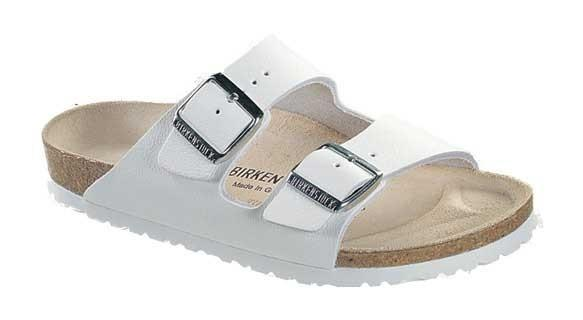 Arizona BF Regular Sandal in White by Birkenstock