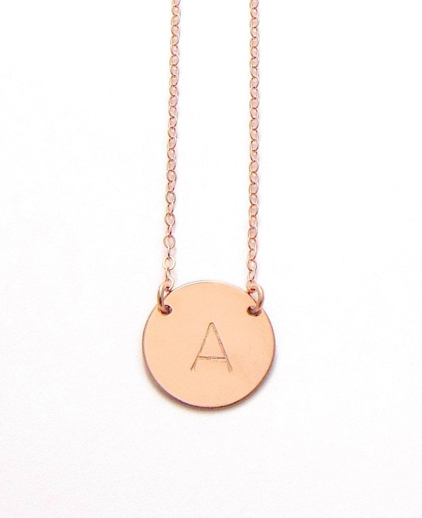 The chloe large initial necklace rose gold misuzi life soul the chloe large initial necklace rose gold misuzi life soul boutique aloadofball Images
