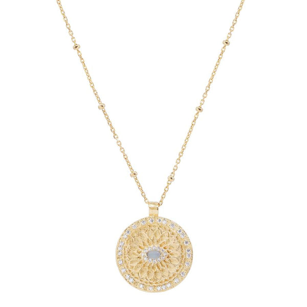 Blessed Eye Necklace in Gold By Charlotte