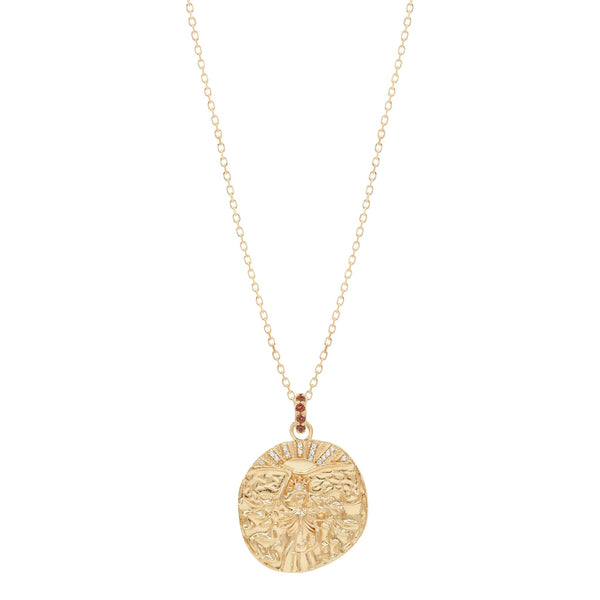 Gold Goddess of Fire Necklace