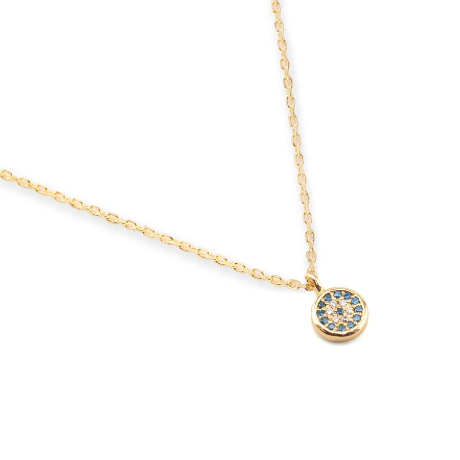Gold Jewelled Eye Necklace by Charlotte