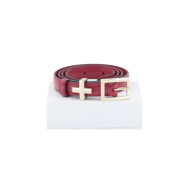 The Rose Belt Red with Light Gold by Dylan Kain