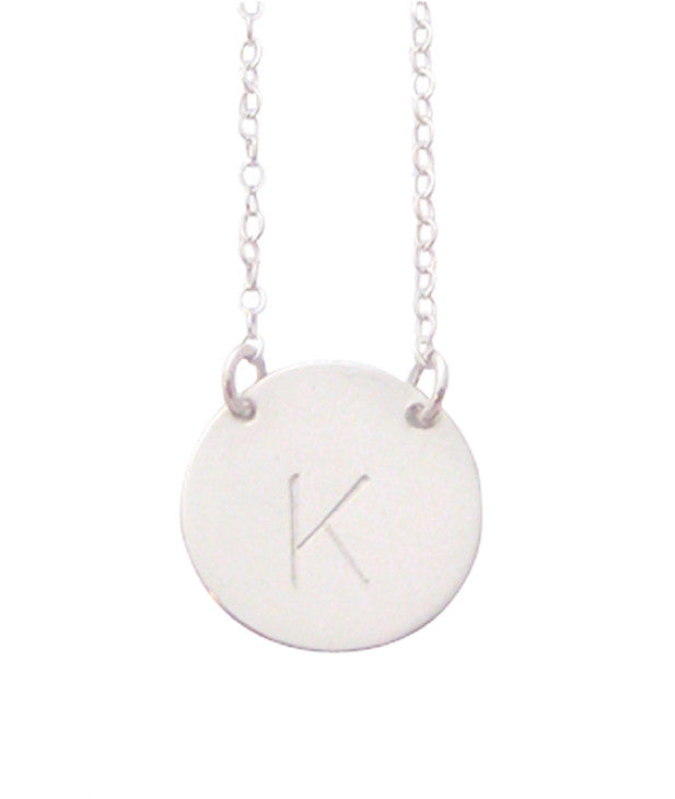 Copy of The Chloe - Large Initial Necklace - Sterling Silver Misuzi