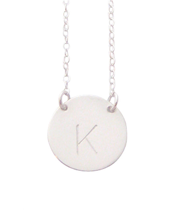 The Chloe - Large Initial Necklace - Sterling Silver Misuzi