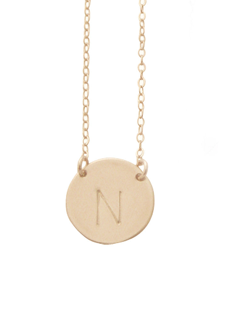 The Chloe - Large Initial Necklace - Gold Filled Misuzi