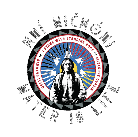 Water Is Life: Mni Wichoni_white text