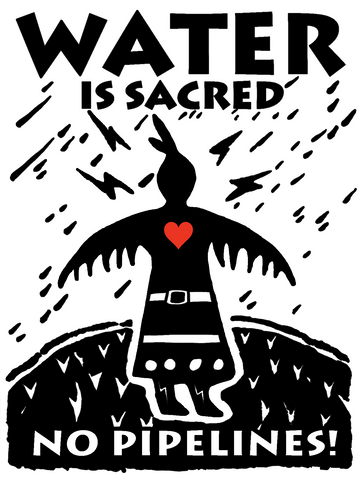 Water Is Sacred: Thunderbird Woman_Art by Isaac Murdoch