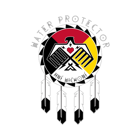 Water Protector: Mni Wichoni_white text