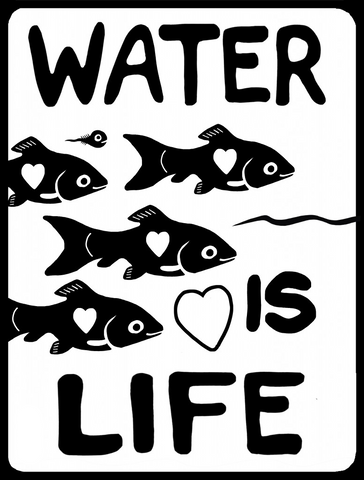Water Is Life: Fish_Art by Christi Belcourt