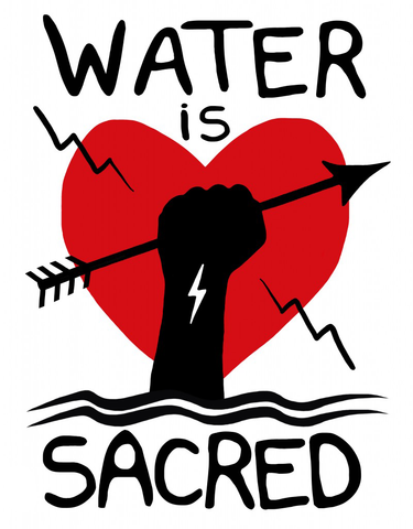 Water Is Sacred: Heart_Art by Christi Belcourt