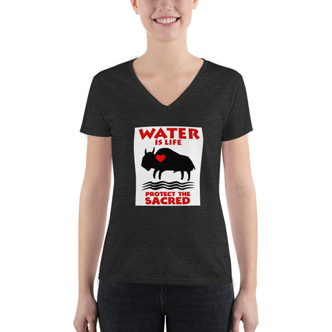 Water Is Life: Protect The Sacred V-neck Tee