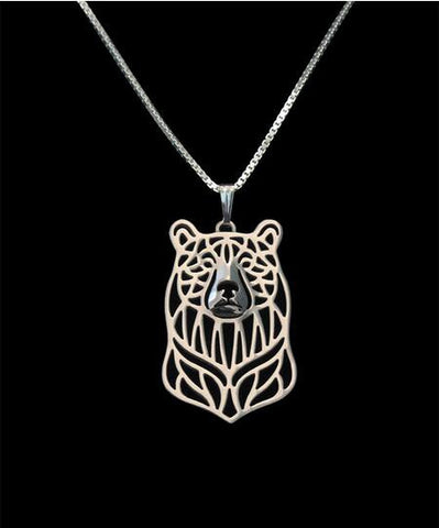 Unique Handmade Bear Pendant Necklace