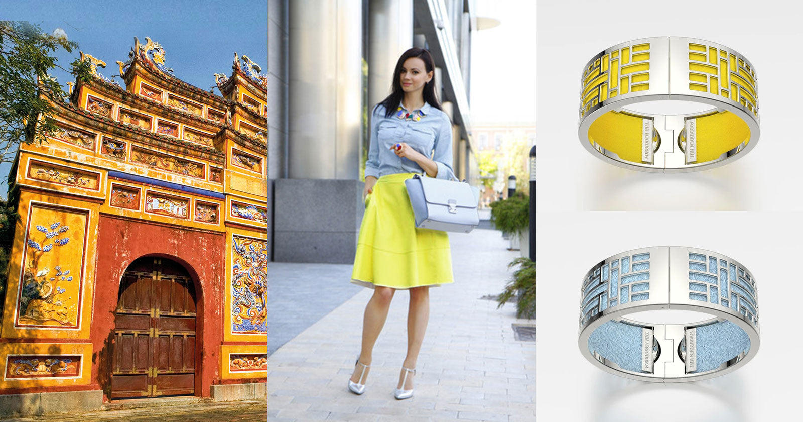 4 Chic ways to pair Forbidden Hill Silk Bangles – inspired by vibrant South East Asia.