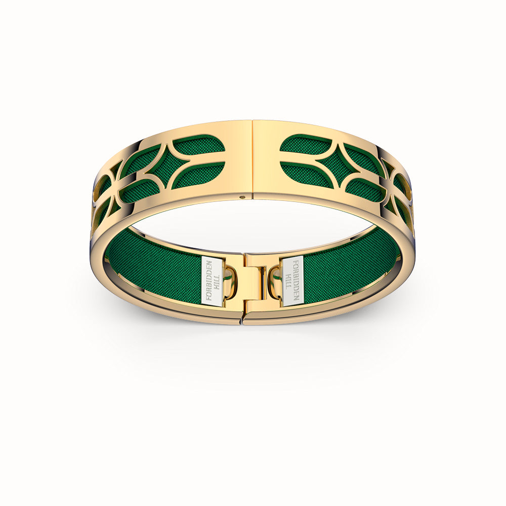 Kawung Bangle - Emerald Green
