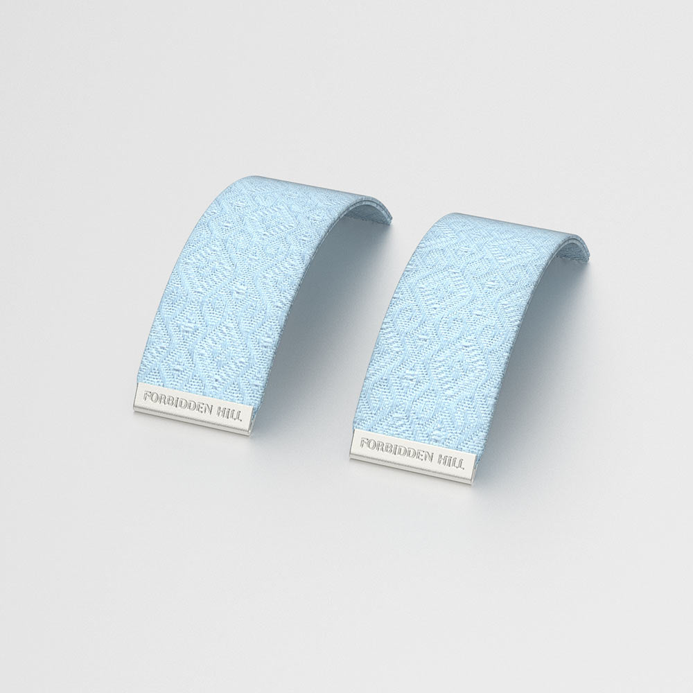 Silk Slides for 24mm Bangle - Mist Blue