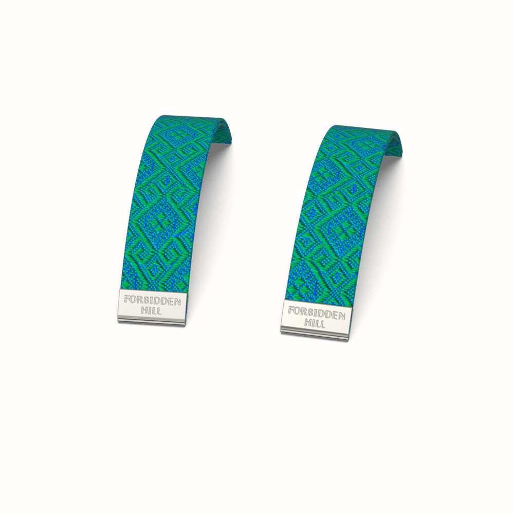 Silk Slides for 16mm Bangle - Andaman Green