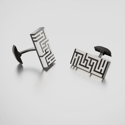 Ban Zu Sterling Silver Cufflinks - Porcelain White