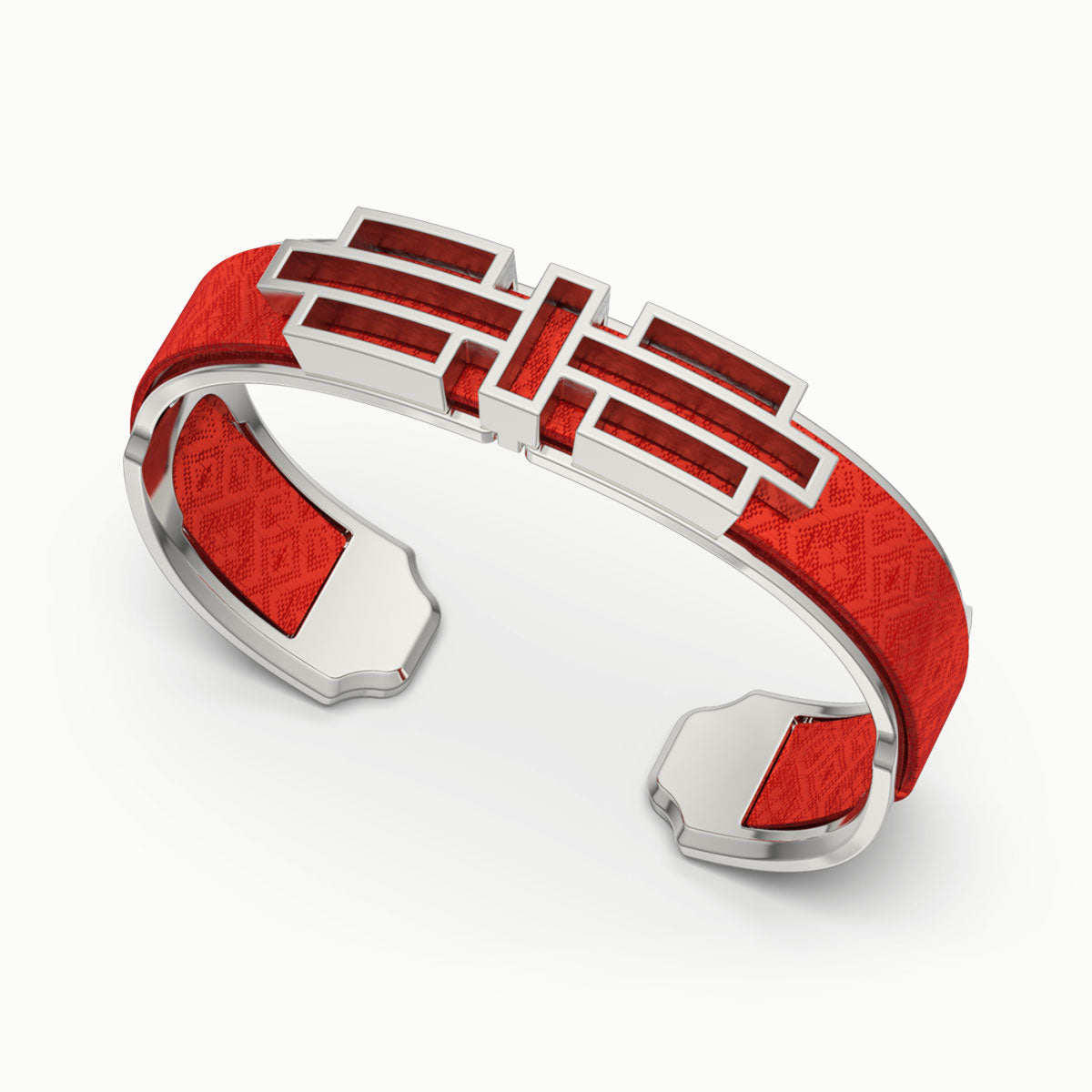 Ban Zu Silk Cuff - Dragon Red