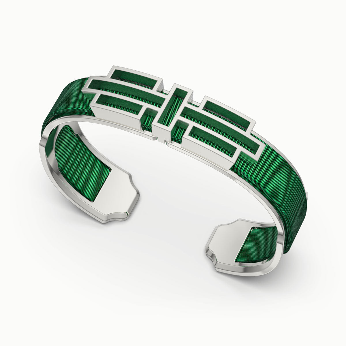 Ban Zu Silk Cuff - Emerald Green