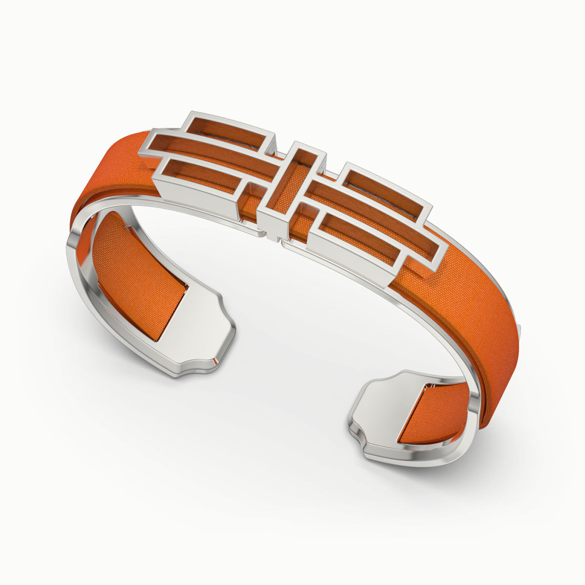 Ban Zu Silk Cuff - Lava Orange