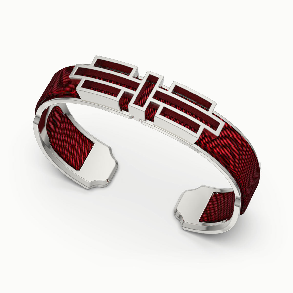 Ban Zu Silk Cuff - Mangosteen Red