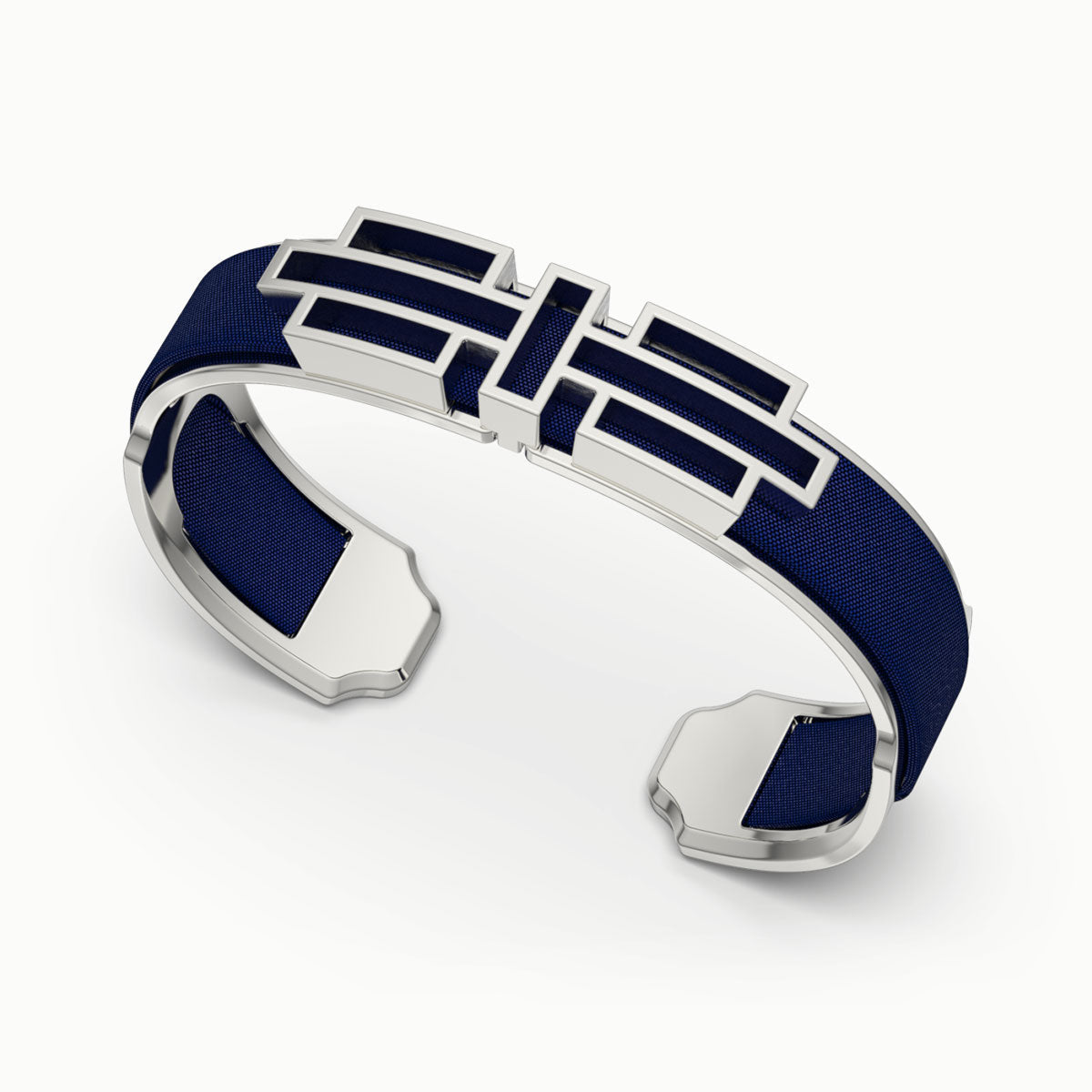 Ban Zu Silk Cuff - Midnight Blue