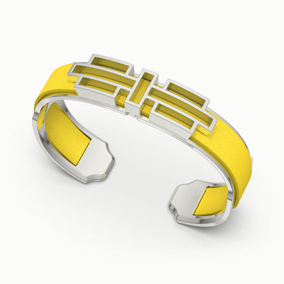 Ban Zu Silk Cuff - Pineapple Yellow