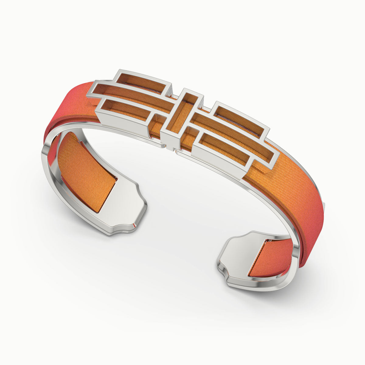 Ban Zu Silk Cuff - Sunset Orange